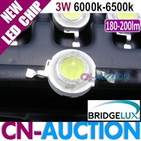 FREE SHIPPING!!! Bridgelux LED Chip 3W White, 45mil, 180-200lm, 6000k-6500k LED Lamp Beads 200pcs/lot (CN-BLC05) [Cn-Auction]