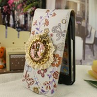 New Fashion Hot Sale Free Shipping Chic Craft 1PCS Leather Flip Case Back Skin Cover for iphone4 4G 4th 4S