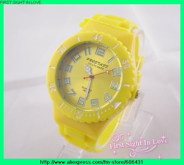 Fast delivery New Arrive! Plastic Fashion watches ladies women wristwatches DIY Jelly watch Many Colors Available 48pcs/lot(China (Mainland))