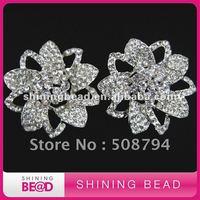 flower design rhinestone brooch pin+high quality+free shipping