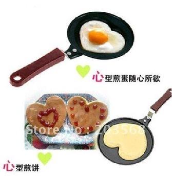 D19Mini Lovely Heart Shaped Egg Pancake Fry Frying Pan Kitchen Non-Stick Cook Pan Free Shipping