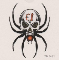 Tattoo stickers waterproof DIY body painted spider skull men