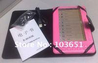 E-book 720P 7 inch screen+ mp4 function,4GB e-book reader,  Free shipping, Hot sales