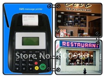 Popular GPRS SMS printer, work with 1 sim card,wireless thermal printer for remote orders from webserver or mobile phone