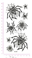Fake black spider tattoos stickers for adults
