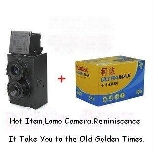 Free Shipping LOMO DIY Twin Lens Reflex TLR 35mm Camera Holga Lomo Recesky DC67 / Easter Hot Selling Lomo Camera with KODAK Film