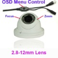 White Sony 600TVL CCD Security Camera 2.8-12mm lens S17U