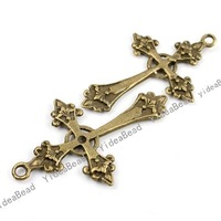 New Design Cross shape  Antique Bronze charm pendant  Fit Necklaces Crafts 20pcs140937
