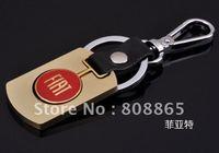 K1344 free shipping 12 pcs/lot car keychain FIAT car keychains fashion keychain  keychains high-grade quality keychains
