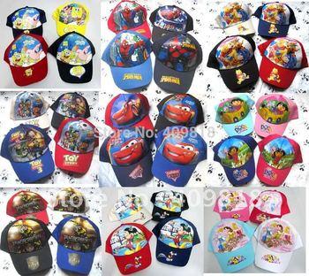 Mix 16 Styles Children Cartoon Hatty Potter Hats Boys Flat Cap Outdoor cap Adjustable Baseball Cap