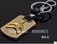 K1359 free shipping 12 pcs/lot car keychain Citroen car keychains fashion keychain leather keychains high-grade quality keychain