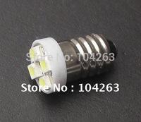 Wholesale Free Shipping E10 4 SMD 3528 LED Light ,DC12v 24v