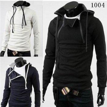 Free Shipping+2014 Hoodies + NEW Hot High Collar Men's Jackets ,Men's Sweatshirt,Dust Coat , skirt,cotton, wholesale SW-M6