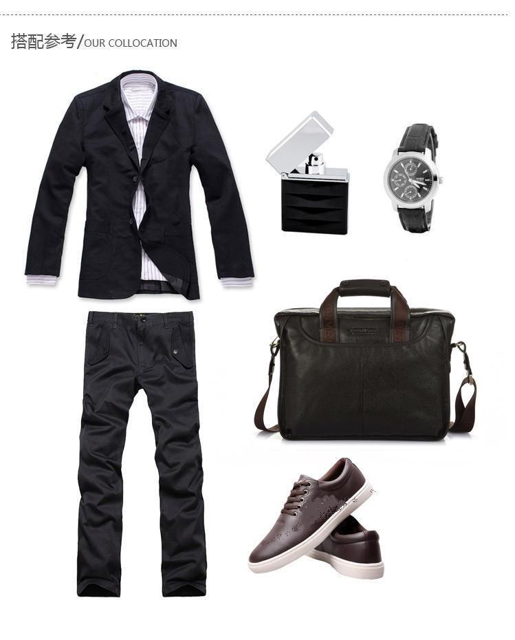 Free shipping.man' geniune leather bag.fashion handbag.best briefcase.laptop.buiness bag.2pcs/lot(China (Mainland))