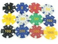 Texas Holder'em chips Baccarat chips Blackjack chips Clay 11.5-Gram Poker chips