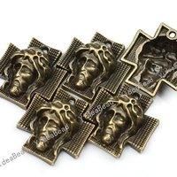 40pcs New Arrival Antique Bronze charm Cross shape pendant  Fit Necklaces 140954