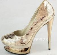 Sexy Genuine Leather Paillette Platform High Heels Pumps Shoes New White Colors