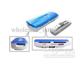 USB 2.0 GSM CDMA CELL PHONE SIM SD/MMC/MS/TF/M2 Memory Card Reader Writer (100PCS LOT)