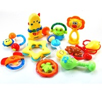 Free  shipping     Baylor Star Five Star Toys - Baby Rattles 10 two-piece gift box (37468)