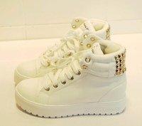 Thick bottom rivet baba shoe, high help movement leisure shoes