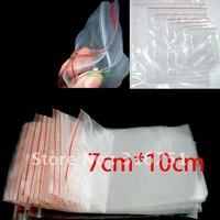 Free Shipping 500Pcs Self Sealing Zip Lock Plastic Bags 7x10cm/packaging bags(w00873)