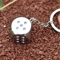 Free Shipping Dice / galloping dominoes design ring keychain/metal keychain/great gift