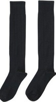 Free Shipping America football socks go to knee  solid black color cotton socks