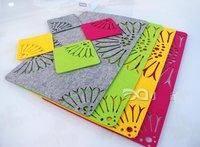 Free shipping: OEM/DIY colorful thick felt place mat/dinner pad/coaster, 100pcs/lot