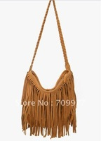 Lady Faux suede Leather Luggage Tote Glossy Shoulder Bag Handbag Baguette for Women bags