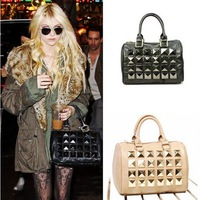 Free Shipping,High Fashion Taylor Momsen  Hangbag,Studded hangbag,Celebrity/Design handbags,shoulder bags,NEW ARRIVALS