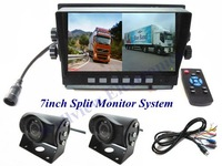 7inch Wide Screen TFT LCD Split Monitor Rear View Truck Camera System,24V DC
