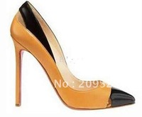 free ship (ems) Classique New Genuine Leather Pigalle Point-toe Women's High Heels Pumps Shoes