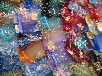 Freeshipping!!!wholesale 1000pcs/lot Jewelery Gift Organza bag  mixed color mixed design 10*15cm