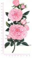 Waterproof tattoo stickers beautiful and colorful flowers PINK peony