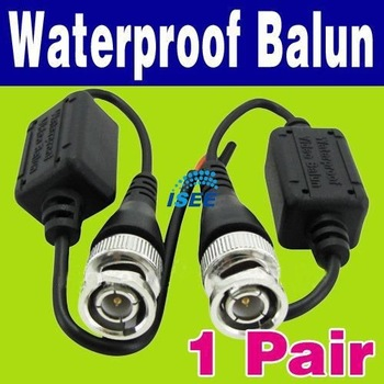 Free Shipping China Post 20Pair/lot Waterproof 2xUTP Network Video Balun CAT5 to
