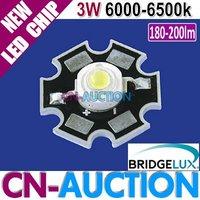FS! Bridgelux LED Chip 3W White High Power LED Lamp with Aluminum Plate, 180-200lm,6000-6500k 200pcs/lot (CN-BLC19) [Cn-Auction]