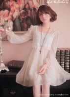 free shipping, short sleeve chiffon  dress,fashion dress (wholesale and retail)