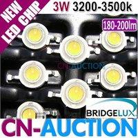 FREE SHIPPING! Bridgelux 3W Warm White LED Chip, High Power LED, 45mil,180-200lm,3200-3500k 200pcs/lot (CN-BLC20) [Cn-Auction]