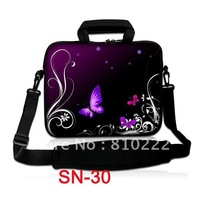 "10"" and 15"" Double Zipper Netbook Laptop Shoulder Bag Sleeve Case Cover With Outside Handle-STK30"