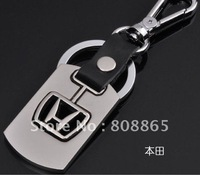 K1529 free shipping 12 pcs/lot car keychain Honda car keychain fashion keychain leather keychains high-grade quality keychain