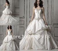 2012 new style taffeta sleeveless dress sexy best-selling