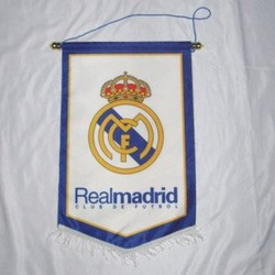 Wholesale Real Madrid football with a flag pole / banner / pennants/ fans depending(China (Mainland))