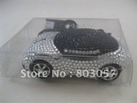2012 Best Novelty Gift ! Free shipping(15pcs/lot) Wholesale Bling Bling Sports Car mouse rhinestone notebook mouse