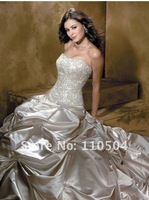 w534 Fahion strapless beautiful bridal gown