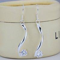 SE185 crystal pendant earrings, wholesale 925 silver drop earrings sexy fashion jewelry dangle crystal jewelry promotion