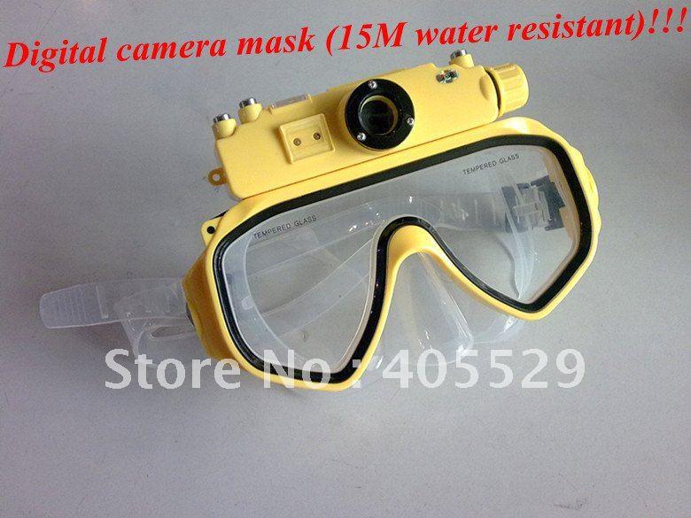 Digital camera mask (15M water resistant) build in 4GB USB PC camera Free shipping!(Hong Kong)