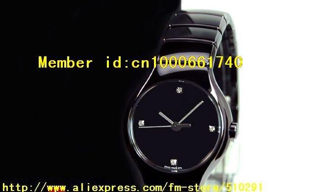 We Is Professional Watch Supplier. NEW R27655742 - BLACK CERAMIC LADIES DIAMOND WATCH(China (Mainland))