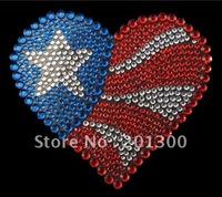 HOT! fashion crystal car decal,flag heart,FREE SHIPPING! ITEM# WST007