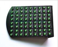 Hot Sale Green marijuana Earring Stud Ear ring Nail Fashion Body Jewelry Ear Piercing 144pcs/lot free shipping