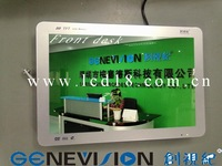 19 inch wall building advertising player with toughened glass materails